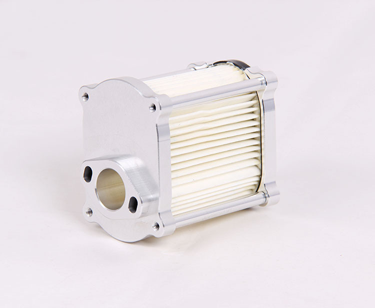 CNC metal skeleton paper core air filter assembly sliver color 85207(China (Mainland))