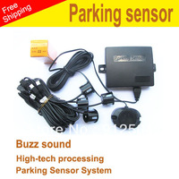 Free shipping!Parking Sensors  Car Reverse Backup Radar System Alarm with 4 Pins
