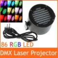 86 RGB LED DMX Stage Light Lighting Laser Projector Party Show Disco 90-240V 25W Free shipping wholesale