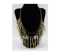 Min.order $15 (mix order)Fashion Vintage spike Collar necklace jewelry Free shipping wholesale&retail SJA072 Bronze color
