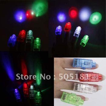 Free shipping laser finger light,LED Finger Light,Laser Finger Lamp,Beams Ring Torch For Party wholesale gift 200pcs