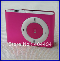 portable mp3 player TF/micro sd Card Supported  with  metal Clip multi colors mini Card Reader 500pcs/lot via DHL free shipping