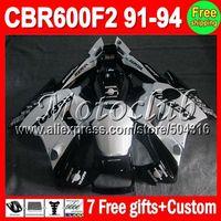 On sale+7gifts Repsol White For HONDA CBR600F2 91-94 CBR600 F2 CBR 600F2 600 F2 91 92 93 94 1991 1992 1993 1994 Black Fairing