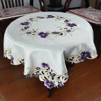 tablecloths D46#85*85 CM purple flower bedcloths beding home textile quilt duvet cover sheet set plush product pillow drawnwork