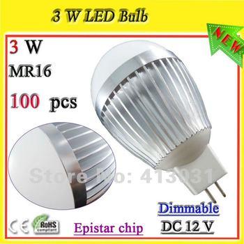 Dimmable 3w led mini bulb 12v MR16 base aluminum lamps for home use warm white / cold white Luminaire Led