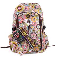 Big Discount 2014 Spring Print Backpack Women's  Casual Shoulder Bags Backpack Student Flowers School Bags