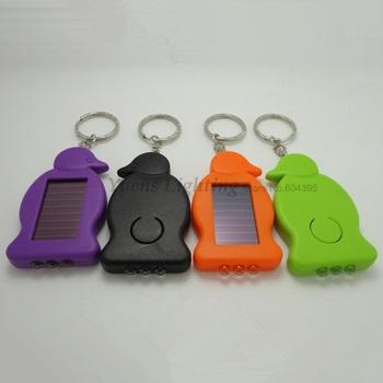 Mini Solar LED flashlight,Solar Torch with 3 LED lighting,keychain,body Color Random,Free Shipping