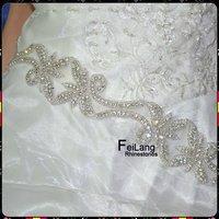 Nice For Wedding Belt Fashion Trim 5 yards Fancy StoneLeaf  Rhinestone Applique