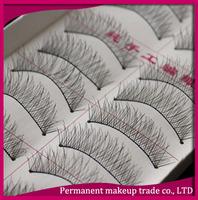 Make up Wholesale black false eyelashes naturally slim models fake eyelashes 219 10 pairs / set - Free Shipping