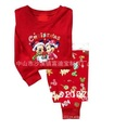 6Sets/Lot 18M-6T Baby girls/Boys Cotton Pajamas Children Pyjamas Toddler kids Christmas Xmas Gift sleepwear sleep suits