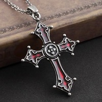 Noctis Cross Pendant Chain Fashion Necklace Jewelry Vintage Pewter Factory Free shipping