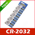 CR2032 CR-2032 Lithium Button Coin Batteries 3V 5pcs(China (Mainland))