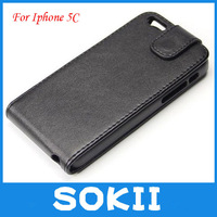 For iphone 5 C leather flip case,Magnetic Flip PU Leather Case cover For Apple iPhone 5C CASE+Screen protector