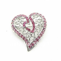 Vintage Christmas Coming 38*35mm Fashion Silver Plated Zinc Alloy+CZ Diamod Brooches for women! High Grade!  Free Shipping HB051