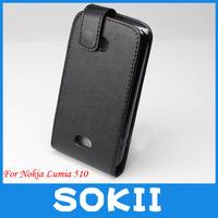 Lumia 510 LEATHER FLIP CASE,flip PU Leather Case For Nokia Lumia 510 CASE COVER