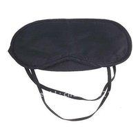 Eye Mask Cover Shade Blindfold Sleeping Travel Black x1