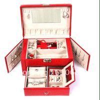 Fashion Jewelry Box European Large Capacity Jewelry Box Can Side Door - The Crocodile Grain K8529