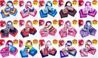 2014 new style 50*50cm satin silk square scarf for hotel/restaurant lad/ WJ-009