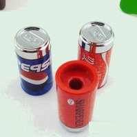 Retail Cartoon Coke Cans Style Pencil Sharpener With Eraser Stationery  (KB-20)