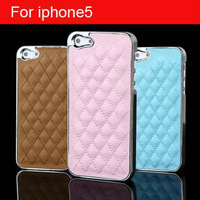 wholesale - Sheepskin Designer case soft leather hard case for iphone5 5G ,can with CC logo , Free Shipping + 100pcs/lot