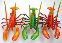 Wholesale 12x9cm Moulded Clay Vivid Lobster Refrigerator Magnet Memo Yellow Home Decor Christmas Gift 75pcs mix DHL Free Ship