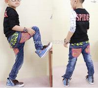 2014 new arrive  autumn fashion Korean version children's clothing jeans wholesale 141