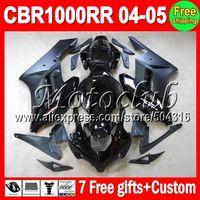 On sale+7gifts ALL Black For HONDA CBR1000RR 04-05 CBR 1000RR CBR1000 RR 1000 RR 04 05 2004 2005 Gloss flat black Fairing Kit