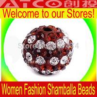 Wholesale New Shambhala beads Free Shipping! 50pcs/Lot, Good crystal ball beads Quality 10mm  Clay Shamballa Beads