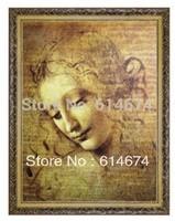 Viso DI Giovane Fanciulla-800*600mm Jigsaw puzzle1500pcs-Leonardo da vinci-Free shipping