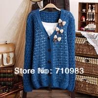 Free shipping women long-sleeve V-neck sweater women&cardigan knitted sweater fashion women's sweater