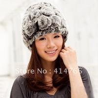 GP Rex rabbit hair rose women's fur hat thermal fur hat casual clothing hat