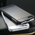 HOT ! Brushed  Aluminum back case for iphone 5g matel cover &amp; PC frame bumper hard case for iphone 5 school bag luxury case