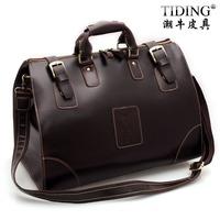 Tiding fashion vintage cowhide male large capacity travel bag one shoulder handbag luggage 3151