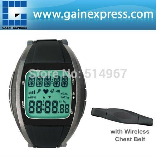Wireless Multi-Function Heart Rate Monitor Chest Strap Watch Fitness Belt Sport Calorie Fat Calculation 30 ~ 240 bpm Range(Hong Kong)