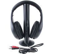 5 in 1Wireless headphone Earphone Headset wireless Monitor FM radio for MP4 PC TV audio