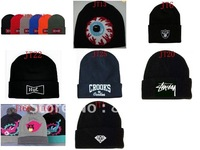 NEW! black!! dolphin beanies, Winter POM Skullies caps,12pcs/lot+mixed order+free shipping  diamond Knitted  hats