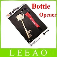 5pcs/lot With Retail Package Key Shape Bottle Beer Can Opener Portable Keychain Free Shipping