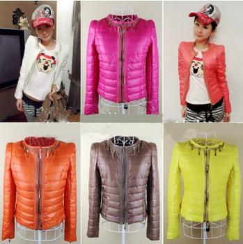 Winter Coat Women Jacket 2014 New Brand Fashion Candy Down Coat Plus Size Causal Oarka Abrigos Mujer Casaco Jaqueta Manteau T010