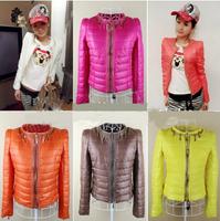 Winter Coat Women 2014 New Brand Fashion Candy Down Jacket Plus Size Causal Parka Abrigos Mujer Casaco Jaqueta Manteau T010
