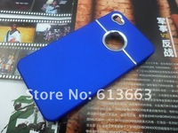 Wholesale 100pcs/lot  New Chrome Metal Round Hole Design Hard Back Cover Case For Apple iPhone 4 4S 4G,Free shipping