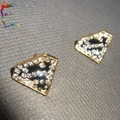 Wholesale fashion Superman Triangle S letter stud earring 24pairs/Lot rhinestone  casual gift earring jewelry