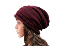 10pcs Winter Knit Women Beanies Womens Crocheted Slouch Beanie Hat Mens Oversized Slouchy Skullcap Men Cable Knitting Baggy Hats