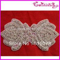 new wedding rhinestone motif decoration accessory Bridal Accessories Crystal Applique Wedding Applique