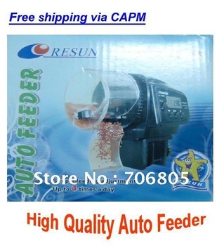 Free shipping Digital Automatic Aquarium Fish Feeder Food Fish Tank Food Auto Timer/ Aquarium pet auto feeder