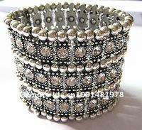 Free shipping $10  dollars wholesale fashion jewelry full crystal elastic alloy bracelet