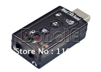 Holiday Sale! USB to 3D Audio Sound Card Adapter Virtual 7.1CH Free Shipping 1166