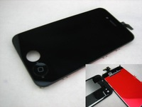 Black Replacement Full Front LCD Display with Touch Screen + Back Cover For Apple iPhone 4S 4GS