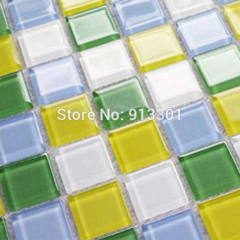 crystal glass tiles mirror discount glass mosaic tile shower kitchen backsplash cheap HGT146 mirrored bathroom wall stickers