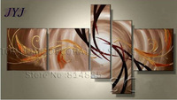 Large!! 5 Panel ,Free Shipping !!  Handmade Modern Oil Painting On Canvas  Wall Art  ,Top Home Decoration JYJLV169