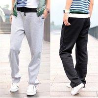 free shipping mens pants casual fashion pants sports trousers leisure pants sports wear cotton blackand gray